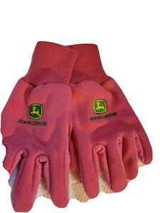 John Deere Women's Pink Gardening Gloves