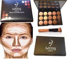 15 Colores Corrector Paleta #2 kit con Brocha Facial Maquillaje Contorno Crema,