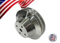 Small & Big Block Chevy Long water Pump Pulley V-Belt Double Groove SBC BBC LWP
