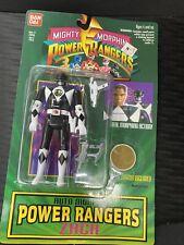 Vintage Power Rangers Black Ranger Zack Fliphead Action Figure (Bandai 1994) New