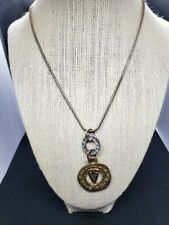 """CHICO'S SILVER & GOLD 9"""" NECKLACE WITH STUNNING & UNIQUE PENDANT!"""