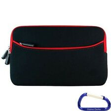 """Neoprene Cover Case for the Nook HD 7"""" Tablet - Black with Red Trim"""