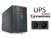 Gruppo di continuità UPS1500VA Protezione Computer Monitor Router TVCC Starter