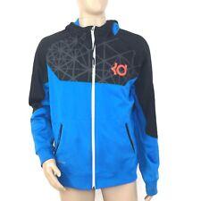 Nike Mens KD Precision Moves Hero Full Zip Hoodie Large Therma Fit Black Blue
