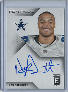 2016 PANINI DONRUSS ELITE Dak Perscott PEN PAL ROOKIE AUTO Cowboys