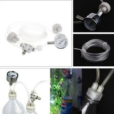 Aquarium DIY CO2 Generator System Kit With Pressure Guage Water Plants D201 Tool