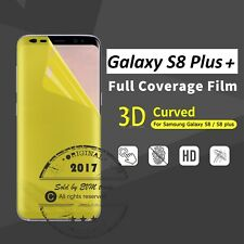 Screen Protector Cover for Samsung Galaxy S8 Plus FULL COVER 3D TPU INVISIBLE