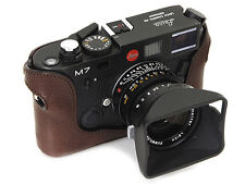 Artisan&Artist Genuine Leather Camera Half Case Cover For Leica M7 LMB-M7 Brown