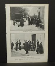 Harper's Weekly Single Pg Daily Scenes in the Life of the Pope c.1890s B12#19