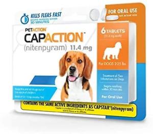 PetAction CapAction (Nitenpyram) Oral Flea Treatment for Small Dog 6 Tabs
