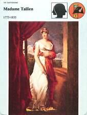FICHE CARD Thérésa Cabarrus Madame Tallien Révolution française Paris France 90s