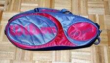 Wilson Team 9 Pack Zipper Tennis Bag Gunmetal Gray and Red