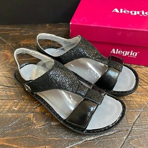 Alegria Womens Sandals Kendra Tile Me More Black 41 W US 10.5 - 11 NEW