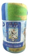 "Frozen Olaf Celebrate Spring Dance Snowman Fleece Blanket Throw 40"" x 50"" NEW"