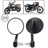 Lenkerendenspiegel Motorrad Spiegel E-geprüft Seiten Rückspiegel Universal 22mm