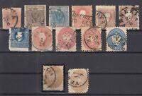 BS6819/ ITALY – LOMBARDY VENETIA – 1850 / 1864 USED CLASIC LOT – CV 385 $