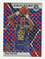 2019-20 Panini Mosaic Prizm Blue Reactive Hall of Fame Karl Malone #284 HOF Jazz