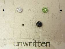UNWRITTEN $65 Mix Tone Round Crystal Stud Style Earrings Store Display SKU40C