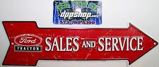 ford Tractor sales & service parking sign arrow tag vintage genuine parts metal