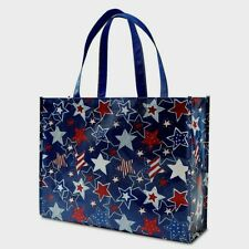 Patriotic Market Eco Tote Bag Non Woven Fabric Stars Shopping Bag Washable