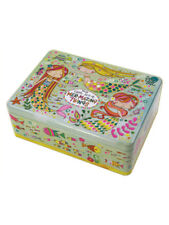 Mermaid Glitter Rectangular Tin Box Wedding Keepsake Girls Christmas Birthday