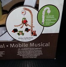 Lambs & Ivy Echo Collection Musical Mobile Owl Frog Turtle Raccoon Porcupine