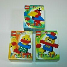 Pack 3 Lego System Free Style 1836, 1837, 1838 Nuevos Año 1995