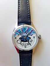Vintage 1980s wind-up The Black Cauldron Disney Movie Watch in working condition