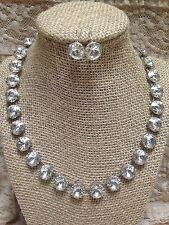 Handmade Swarovski Crystal Necklace & Earring Set