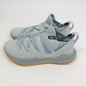 Under Armour UA Curry 5 Grey Gum Tokyo Ivory 3020657 105 Mens Basketball Sneaker