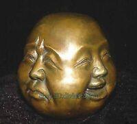 Collectables! Ancienne laiton sculpture Bouddha ,4 face Bouddha statue