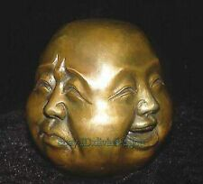Collectables! Ancienne laiton sculpture Bouddha ,4 face Bouddha statue