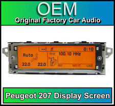 Peugeot 207 display screen, RD4 radio LCD Multi function clock dash