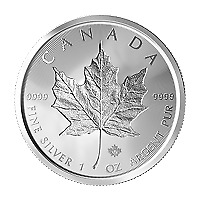 Lot of 10 x 1 oz 2019 Canadian Maple Leaf Double Incuse Silver Coin
