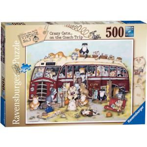 Ravensburger 14750 Crazy Cats Vintage Bus 500 Piece Jigsaw Puzzle