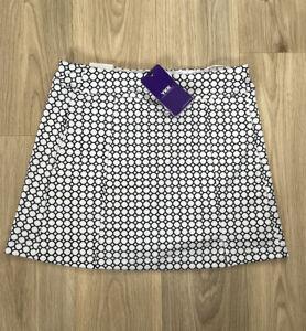 Womens Lesmart Golf Series White Divided Golf Skort Skirt Size UK 8
