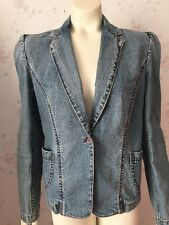 Express Jeans Stretch Juniors Size 7/8 Denim Blue Jeans Jacket