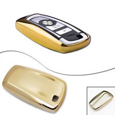 For BMW 1 3 4 5 6 7 X1 X3 Series Gold TPU Smart Remote Key Fob Case Cover Shell