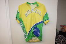 Men Cycling Jersey Brazil Short Sleeves T-Shirt Sz XL
