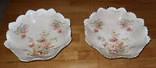 "2 x Antique S. Fielding & Co. (pre Crown Devon) Bowls - 3"" High x 10"" Diameter"