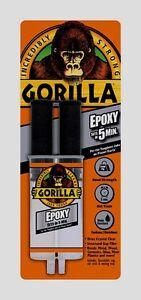 Gorilla Glue Epoxy Adhesive .85oz High Strength Gap Filler Clear Multi 4200102