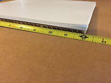 "WHITE STYRENE POLYSTYRENE TRANSLUCENT PLASTIC SHEET .010"" THICK 12"" X 12"""