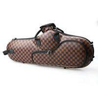 New Black Brown Checked Solid Cloth Saxophone Case for Alto Sax