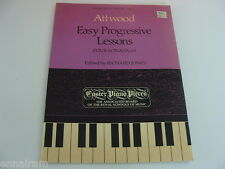 Attwood Easy Progressive Lessons 4 Sonatinas ed. Jones 1983 Easier Pieces # 1