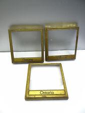 Vintage Lot Metal Glass Ontario Candy Shop Glass Door Display Tops Lids Covers