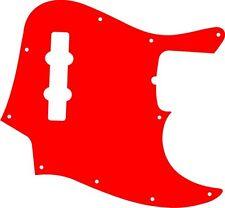 Pickguard Scratchplate Pick Guard Fender Jazz J Bass Guitar Red Acrylic New