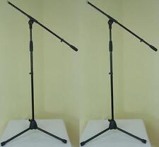 2 x ADAM HALL Mikrofonstativ ECO schwarz Mikrofonständer Mikroständer mit Galgen