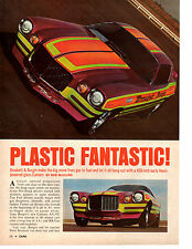 1971 HEMI CAMARO FUNNY CAR ~ BRASKETT & BURGIN  ~  NICE ORIG 4-PAGE ARTICLE / AD
