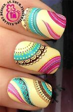 NAIL ART WRAPS WATER TRANSFERS STICKERS DECALS DECO SET ETHNIC BOHO PATTERN #238
