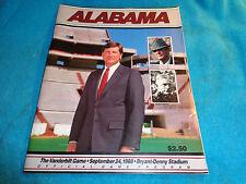 1988 Alabama Crimson Tide vs Vanderbilt Football Program Bryant Denny Stadium